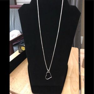 Sterling Silver Necklace with A Silver Heart